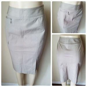 Doncaster Beige Midi Pencil Skirt
